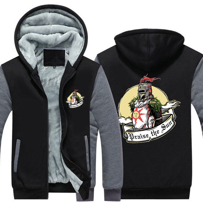 Praise the Sun Mens Game  Thicken Hooded Jacket  2018 - OGClout