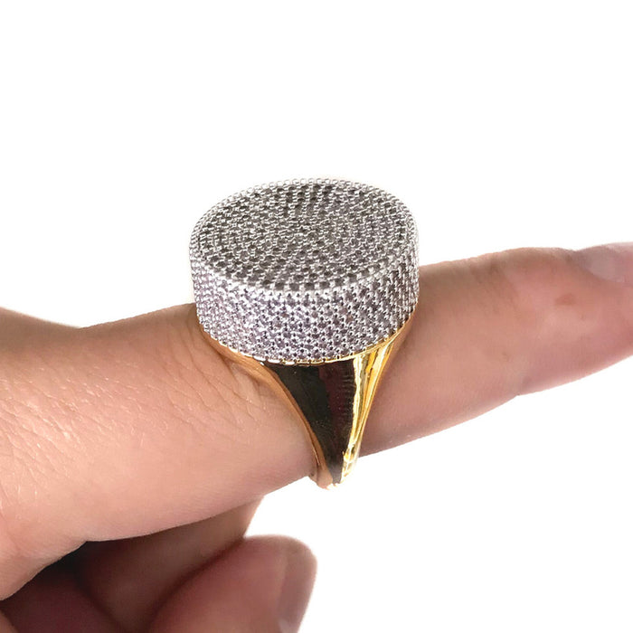Top quality Hip Hop Iced Out Bling Ring