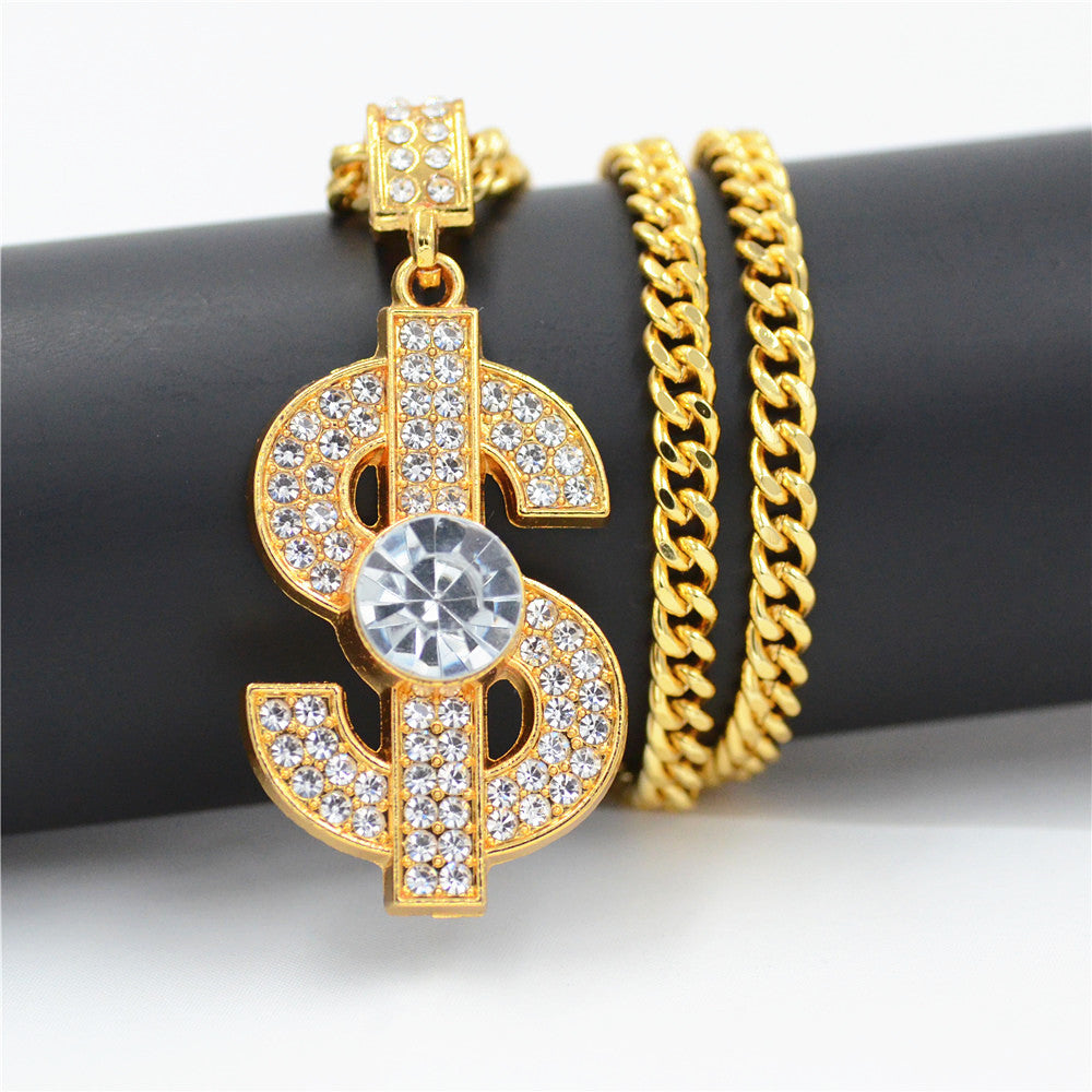 Dollar Sign Pendant Necklace - OGClout