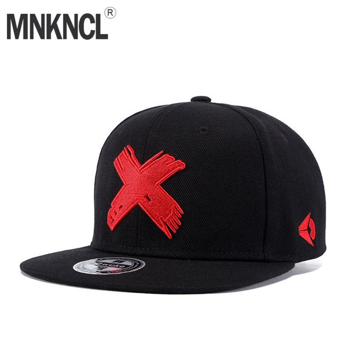 High Quality Snapback X Embroidery Hip Hop Cap