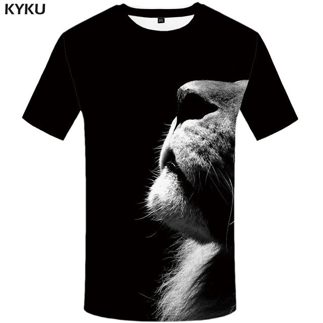 Animal Print T Shirt for Men C