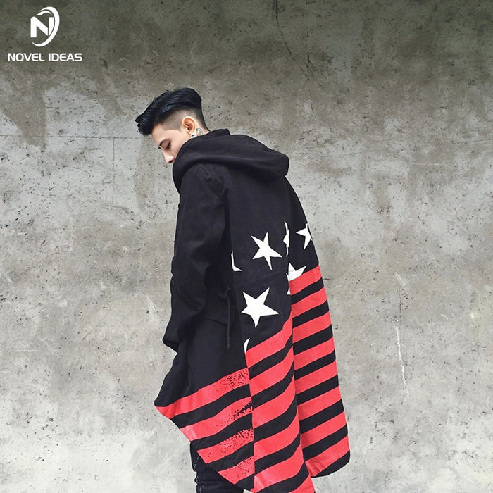 Windbreakers  long Stripes flag Shawl