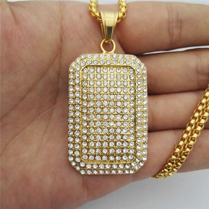 Full Iced Out Hip Hop Blingbling Necklace - OGClout