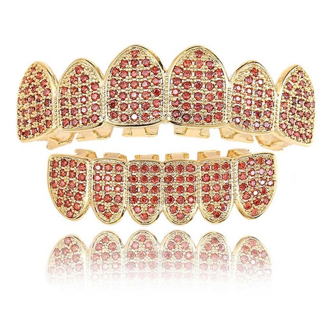Garnet Red Grillz - OGClout