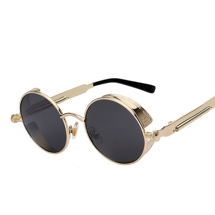 Round Gothic Hip Hop Sunglasses - Mirror Sun Glasses For Men Star - OGClout