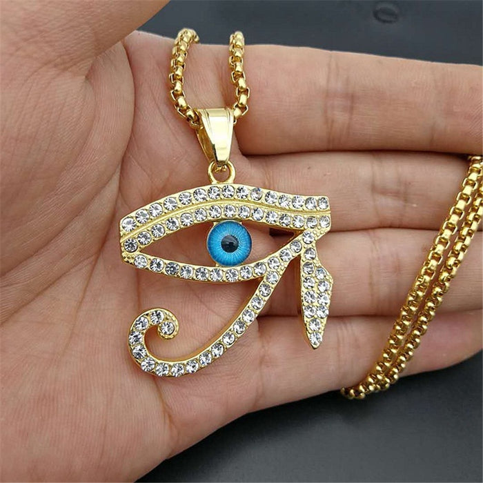Iced Out Egyptian- The Eye of Horus Pendant