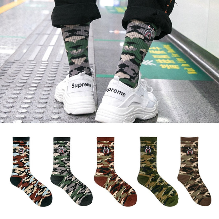 Fashionable personality  Camouflage Art Socks - OGClout