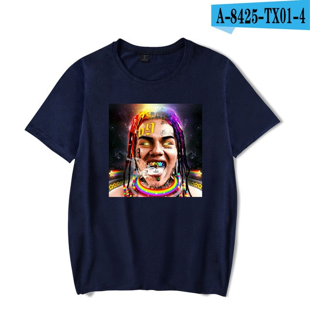 Casual Hot Sale 6ix9ine Rapper T shirt