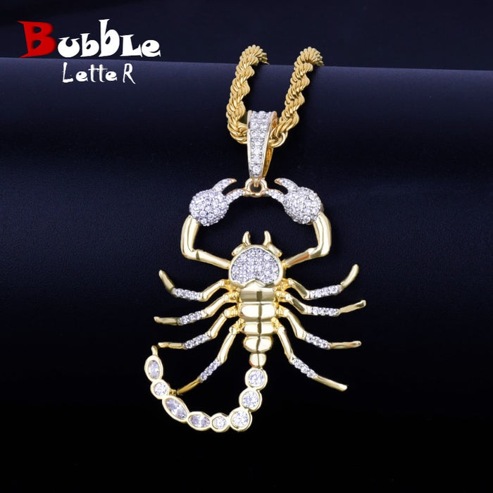Scorpion Hip Hop Pendant With Tennis Chain