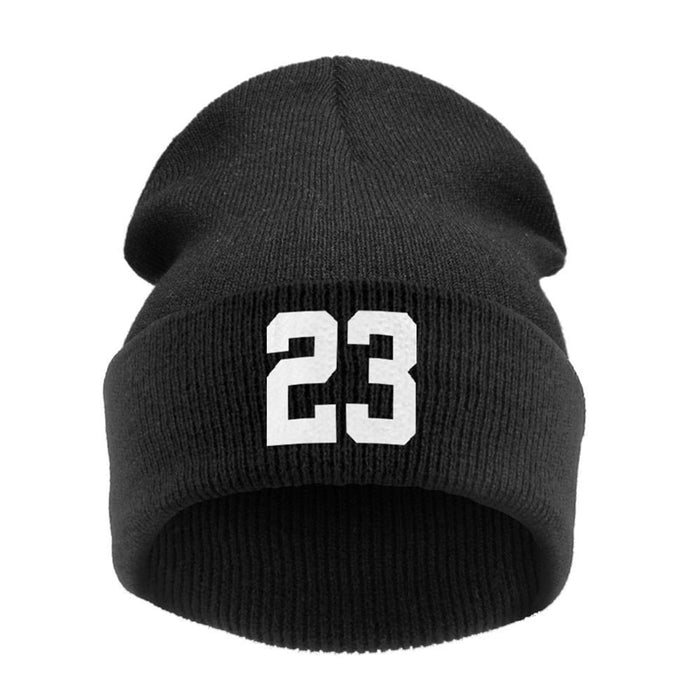 Hip Hop Number 23  Beanie Knitted Wool Hat T