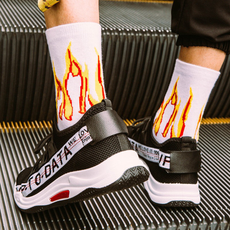 Blaze Power Street Style  Cotton Long Socks