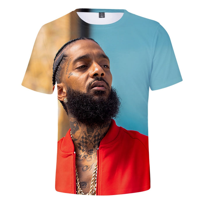 Hot Rapper Nipsey hussle Print Short T shirt