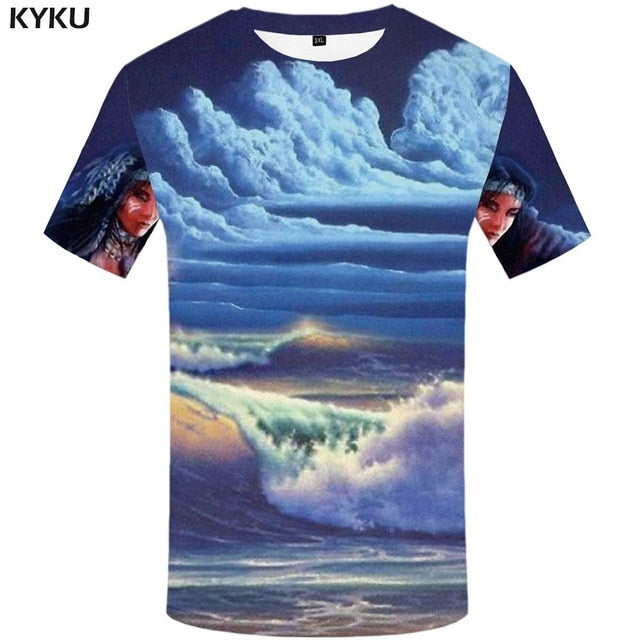 Water 3d Casual Tee shirts