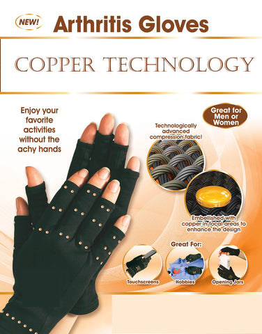 Copper Hands Arthritis Gloves Unisex - BigSaver.com