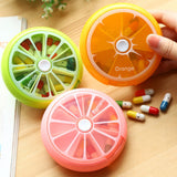 Portable 7-Days Pill Cases Outdoor Travel Rotating Medicine Splitters Vitamin