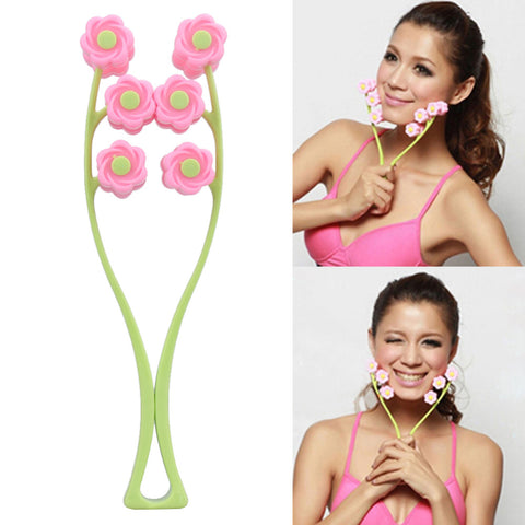 Portable Facial Massager Roller Flower Shape Elastic Anti Wrinkle Face-Lift Slimming