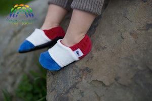 ALL SIZES----BOOTIES---RED WHITE AND BLUE