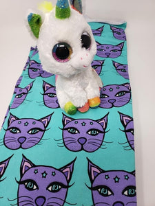 PreOrder Mint & Purple Kitty/large scale Tootsies
