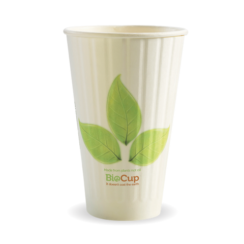 Double Wall Green Leaf BioCup