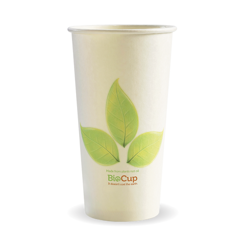 Single Wall Green Leaf BioCup