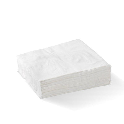 White - 1 Ply 1/4 Fold Lunch BioNapkin