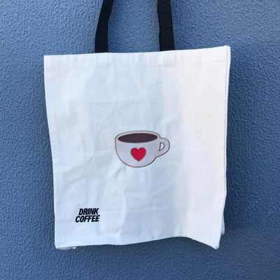 Heavy Duty Canvas Tote Bag with Gusset - Coffee Bag