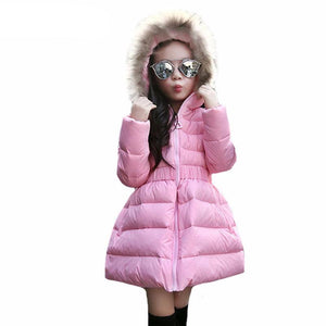 White Duck Down Jackets For Girls - Chilly Baby