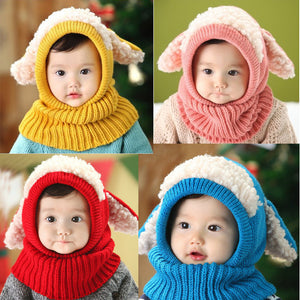 Warm Wool Hood Scarf Hat - Chilly Baby