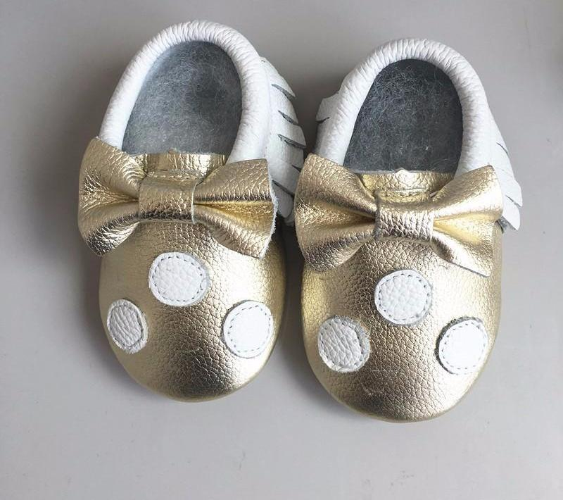 Genuine Leather bow baby shoes - Chilly Baby