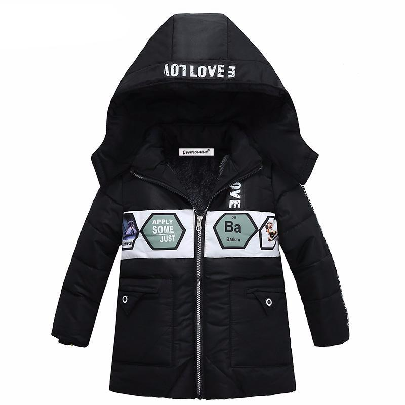Boys Parkas Warm Hooded Cotton Outerwear Coat - Chilly Baby