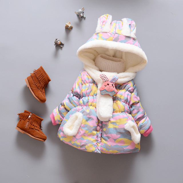 Girls Cotton Camouflage Print Jacket - Chilly Baby