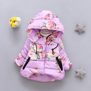 Floral Print Jacket For Girls - Chilly Baby