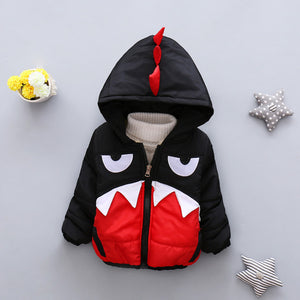 Cartoon Hooded Cotton Jacket For Boys - Chilly Baby