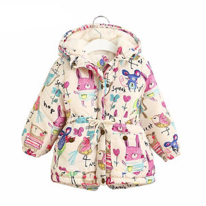 Graffiti Parkas Hooded Jackets For Girls - Chilly Baby