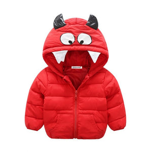 Cartoon Hooded Warm Outerwear Jacket For Girls - Chilly Baby