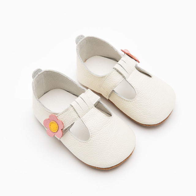 Genuine Leather Baby Moccasins Anti Slip Shoes - Chilly Baby