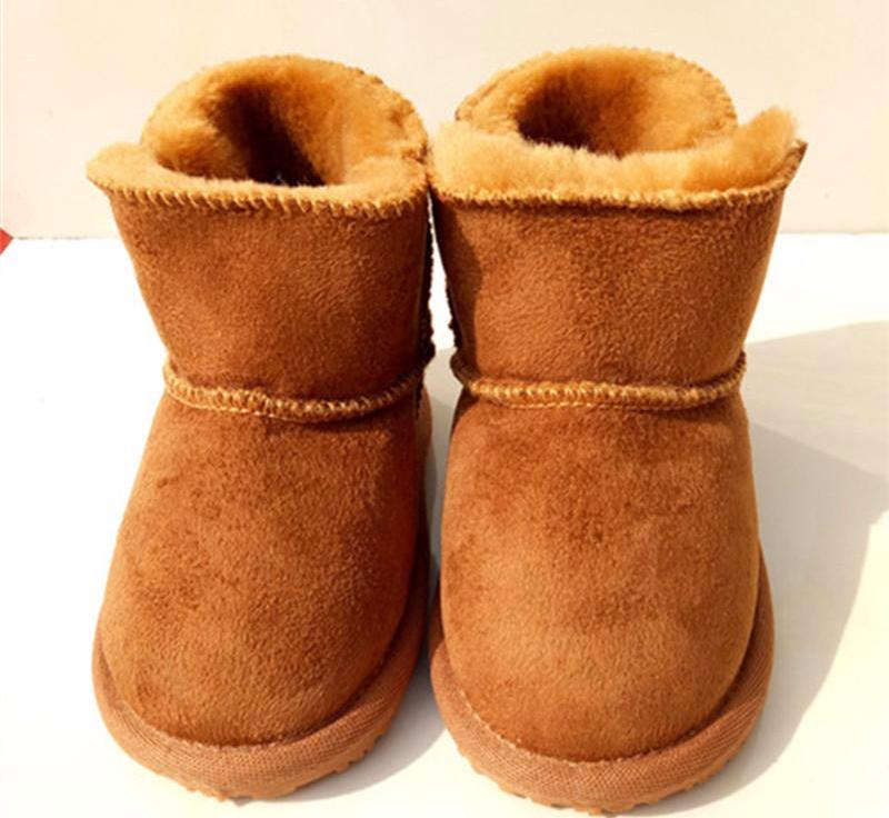 Genuine Leather Newborns Infants Fur Wool Booties - Chilly Baby