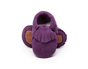 Genuine suede leather moccasins shoes - Chilly Baby