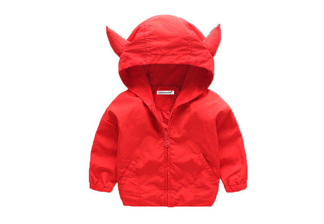Cartoon Ox Horn Jacket For Boys - Chilly Baby