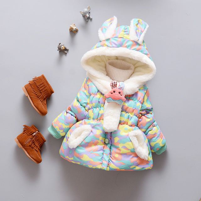Girls Top Model Hooded Warm Coat - Chilly Baby