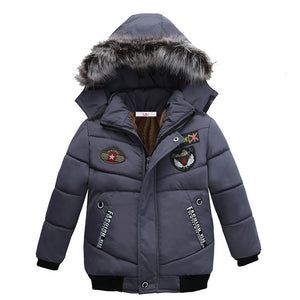 Thick Cotton-padded Jacket For Boy - Chilly Baby