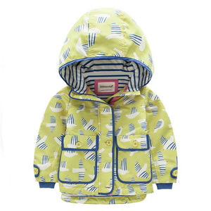 Girls Windbreakers Children Hooded Outerwear Coats - Chilly Baby
