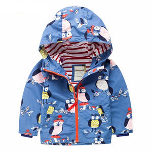 Hooded Windbreaker Kids Winter Jackets - Chilly Baby