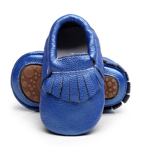 Solid Genuine Leather handmade Baby Shoes - Chilly Baby