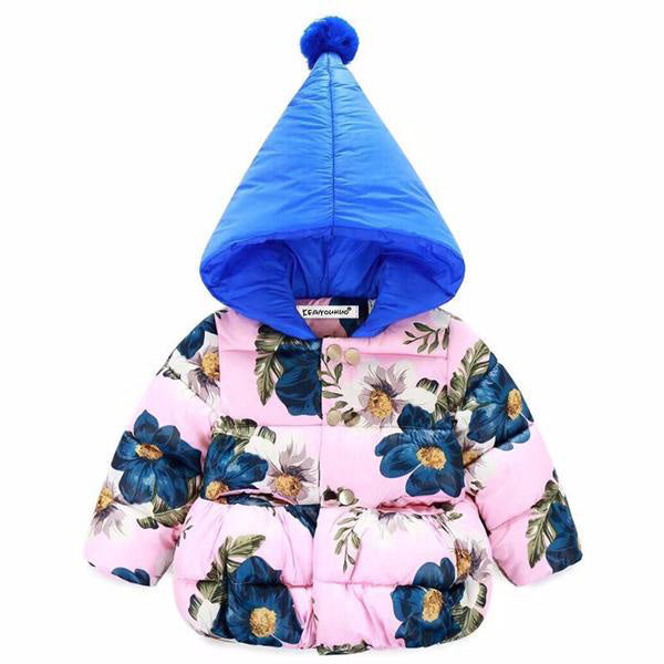 Floral Print Outerwear Jacket For Girls - Chilly Baby