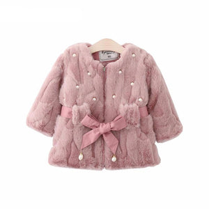 New Model Girls Faux Fur Coat - Chilly Baby