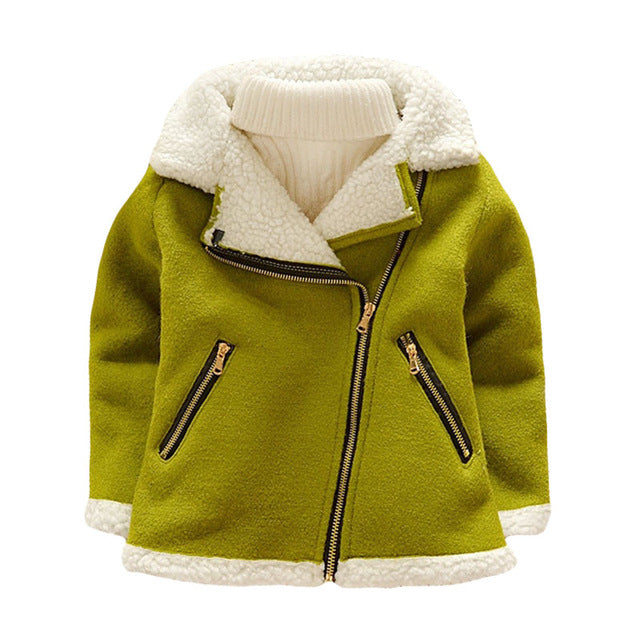 Warm Wool Outerwear Coat For Boys - Chilly Baby