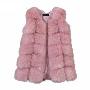 Thick Warm Faux Fur Waistcoat For Girls - Chilly Baby