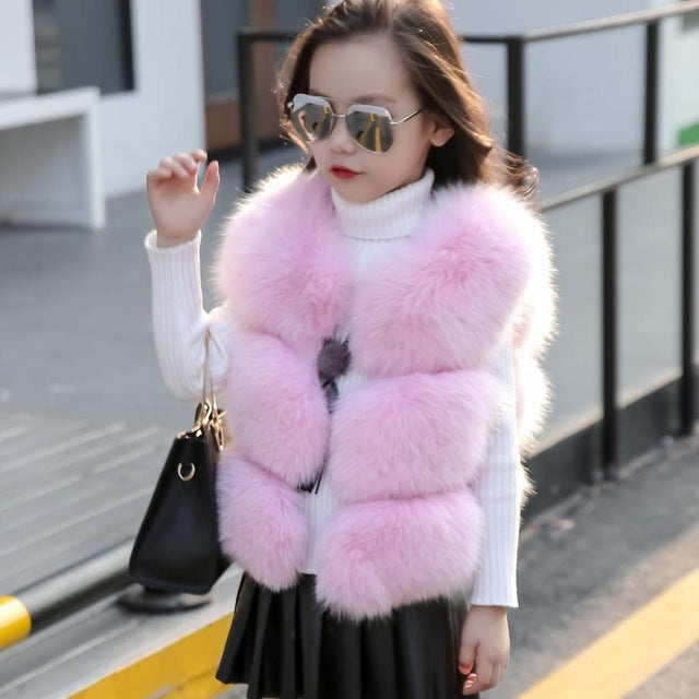 Winter vest for girls - Chilly Baby