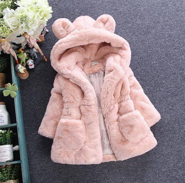 Winter Outerwear Cartoon Hooded Jacket For Girls - Chilly Baby